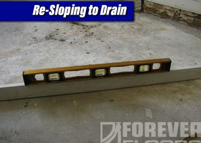 Re-sloping to Drain