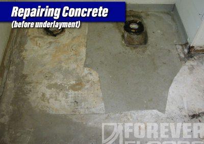 Repairing Concrete Before Underlayment