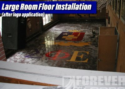 Large Room Floor Installation (after logo application)