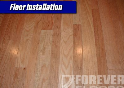 Wood Floor Installation During
