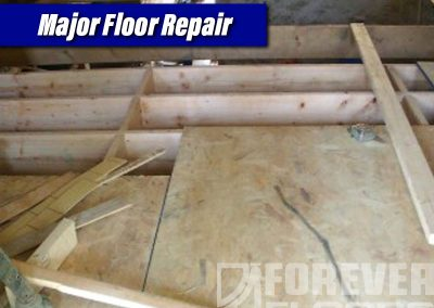 Major Floor Repair Plywood Deck Installation